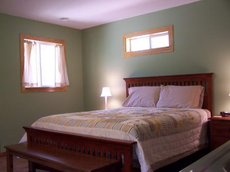 Both guest rooms have a queen size bed!
